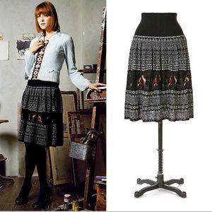 Moth • Anthropologie Fairisle bird sweater skirt